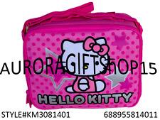 "Sanrio Hello Kitty  Star 9.5"" Canvas Pink Grils Lunch Bag/Box-4011"