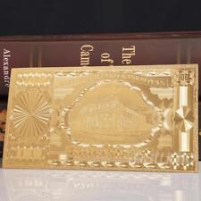 1stk Litauen 100 Goldfolie Gedenknotiz Geschenk !