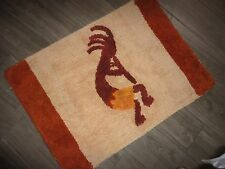WARM CINNAMON ORANGE MELON KOKOPELLI DANCE THROW RUG 19X28 NO LATEX BATH KITCHEN