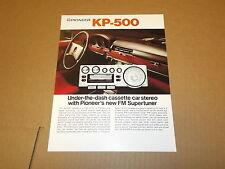 Pioneer KP-500 Car Stereo Cassette Original Brochure / Catalog