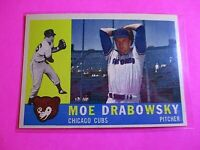 1960 TOPPS baseball Set Break #349 Moe Drabowsky Cubs NmMt High Grade