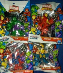 "New set of 4 Marvel Super Hero Adventures Playskool Heroes 2.5"" figures"
