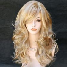 Wig Hair Wonderful Long Wavy Blonde Mix Skin Top Curly Wiwigs Stylish
