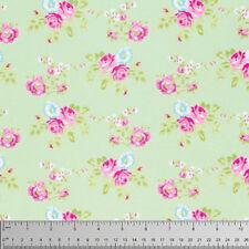Tanya Whelan Zoey's Garden Zoey Rose Fabric in Green PWTW119 100% Cotton