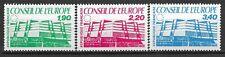 France 1986 - Timbre Service -Conseil de l'Europe - N° 93 à 95