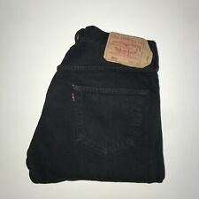 Levis 501™ 34 32 Mens Work Jeans Regular Straight Original Fit Black Denim