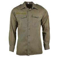 Genuine Austrian army shirt M65 O.D Military combat long sleeve Olive BDU