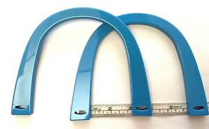 Pair (2) of U Shaped Bag Handles for Knitting or Sewing (Pale Blue)