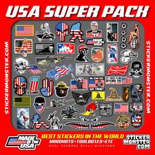 USA Hard Hat Stickers (50+) HardHat Sticker & Decals, Helmet, Flask, Bottle