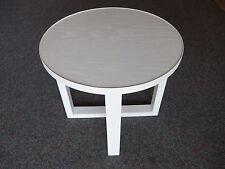 Couchtisch weis rund Lamp Table Tisch Beistelltisch Kreuzfuß - NEU