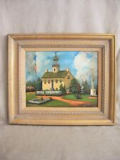 Vintage Landscape Painting,Architectural,Thelma Bruner,California Impressionism