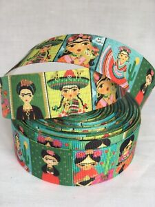 YARD FRIDA KAHLO ARTIST MEXICO ICON CHARACTER GROSGRAIN RIBBON