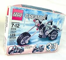 New Lego Creator 3 in 1 Highway Cruiser 31018 Motorcycle Retired 2014 Faded Box
