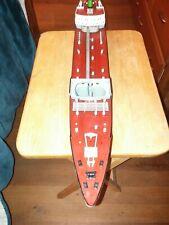 "Vintage Wen-Mac Texaco Ss North Dakota Toy Model Tanker Ship 27"" missing parts"