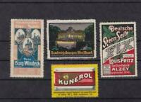 germany advertising stamps paper & card  on back ref r15136
