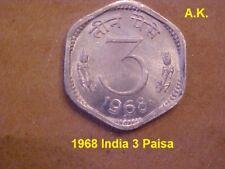 1968 India 3 Paisa
