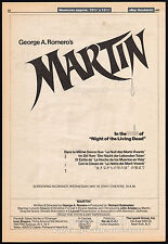 MARTIN__Original 1977 Cannes Trade Print AD/ poster_movie promo__GEORGE A ROMERO