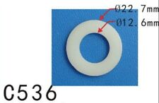 "20Pcs Car Nylon Plastic Washer O Ring Seal 12mm 15/32"" M12 I.D. / 22mm 7/8"" O.D."