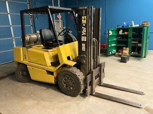 Yale 1994 Forklift 8000lb Pneumatic LPG 6cyl. GMC - needs head gasket work.