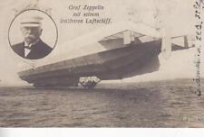 C1675) AVIAZIONE, GRAF ZEPPELIN MIT SEINEM LENKBAREN LUFTSCHIFF. VIAGGIATA.