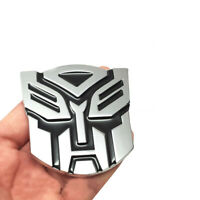 NEW ALLOY TRANSFORMERS CAR BADGE AUTOBOT 3D CHROME STICKER EMBLEM DECAL LOGO
