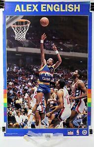 "Alex English Denver Nuggets Original NBA Starline Poster 1987 22 1/4""x34 3/8"""