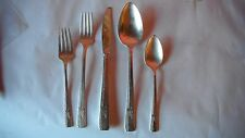 5 pc place setting,Prestige Plate GRENOBLE 1938 silver plated flatware