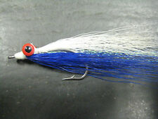 6 Clouser Minnows Blue / White # 2 Saltwater Fishing Flies lures Brookside