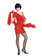 Ladies Adult Red Fancy Dress Flapper Gatsby 1920's 30's Costume Large 14-16 New