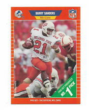 BARRY SANDERS 1989 PRO SET ROOKIE RC #494 $25.00 DETROIT LIONS HALL OF FAME