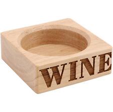 supporto in legno bottiglia di vino - INCISIONE - moderno GUARDANDO BLOCCHETTO