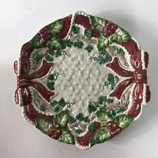 Fitz and Floyd Omnibus Baroque Holiday Snack/Canape Plate - Dated 1994