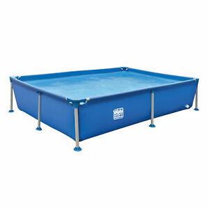 Frame Pool 228x159 cm rechteckig Blau 1300Liter 42cm hoch Stahlrahmenpool Becken