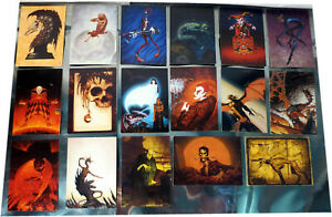 Mixed Lot, 17 x  1992-1995 FPG BROM Collector Cards, Horror, Fantasy Images