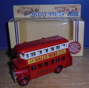 Lledo Days Gone DG15 AEC Regent Bus General Hall's Wine All Red Promotional Base