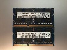 16GB DDR3 (2x8GB) PC3 12800 1600Mhz Laptop SODIMM RAM Memory Upgrade Kit 204-pin