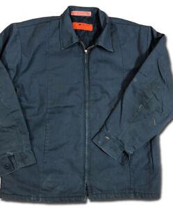 Red Kap Jacket Men's Perma Lined Panel JT50 Navy / Charcoal / Green Work Uniform