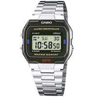 Casio Uhr A163WA-1Q Retro Digitaluhr Armbanduhr Herren Damen Schwarz NEU & OVP