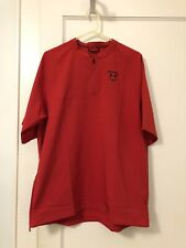 Under Armour UA Cage Jacket Men's Short Sleeve 1/4 Zip Baseball Red Large L NWT