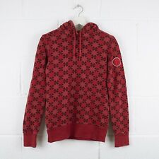 Vintage CONVERSE Red Patterned Pullover Hoodie Size Womens Small /R1006