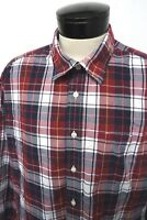 GAP Classic Fit blue red plaid casual dress shirt sz 2XL mens L/S#7031