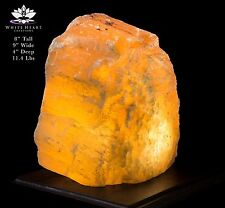 """8"""" Red Selenite Crystal Lamp With Black Walnut Base - RC-916-5 (Exact Lamp)"""