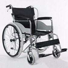 Luxus Faltrollstuhl Rollstuhl Handbremsen Ultraleichten tragbarer klappbarer