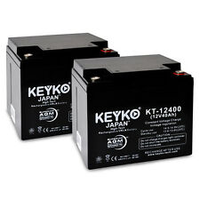 12V 40Ah Sealed Lead Acid Replacement rechargeable Battery KEYKO ® AGM (T3) 2PK
