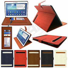 "Luxury Stylish Flip Wallet Stand Case Cover for Galaxy Tab 3 10.1 P5200 7"" P3200"