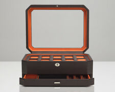 WOLF Windsor 10 Piece Watch Box With Jewelry Drawer 458606 + FREE US SHIPPING