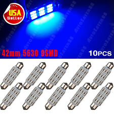10X Ultra Blue 5630 42MM High Power Chip 9SMD Trunk Map Dome LED Lights 211-2 US
