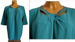 NEU Übergröße elegante Damen Shirt raffinierte Ausschnittvariante Gr.54,60,62