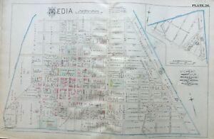 1882 MEDIA DELAWARE COUNTY PRISON PENNSYLVANIA MINSHALL HOUSE ATLAS MAP
