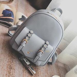 Women Girl PU Travel Backpack Leather Handbag Rucksack Shoulder School Bag 3Pcs